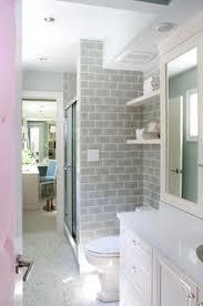 boys bathroom basketweave subway tile grey white shaker