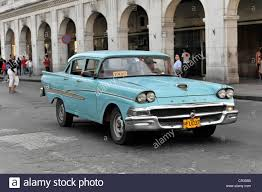 old ford cars taxi vintage ford car from the 50s in the centre of havana