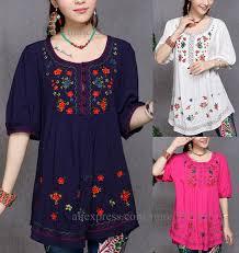 aliexpress com buy vintage embroidery women blouses blouse shirt