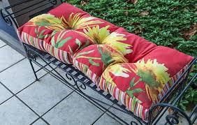 Garden Chair Seat Cushions Amazon Com Outdoor Cushions Floribunda Garden Bench Cushion