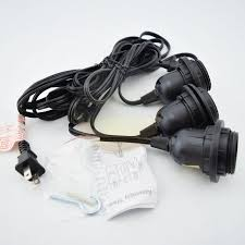 fantado socket black pendant light l cord for lanterns