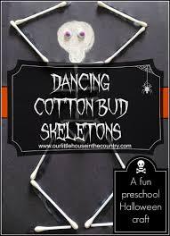 Preschool Halloween Craft Ideas - dancing skeletons u2013 cotton bud skeletons preschool halloween