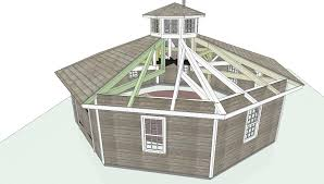 octagon timber frame outbuilding robert swinburne vermont architect