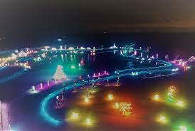 best christmas lights in the world christmas glow at land of illusion