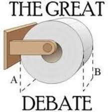 Toilet Paper Roll Meme - the great toilet paper debate know your meme