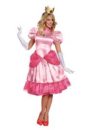 Super Deluxe Halloween Costumes Princess Peach Deluxe Costume