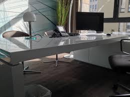Schreibtisch Schwarz Lack Chef Schreibtisch Praefectus Weiß Hochglanz Modern Design Chef