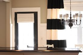 Black And White Stripe Curtains Horizontal Striped Curtains Eulanguages Net
