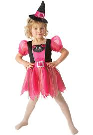 kids kitty witch costume pink witch halloween fancy dress