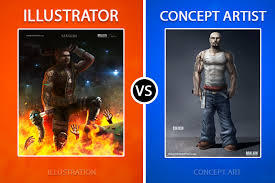 freelance illustrator vs concept artist who should you hire for work