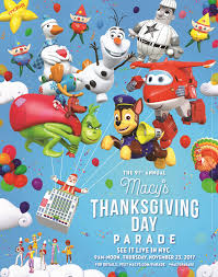 2017 macy s thanksgiving day parade start time and balloon line up
