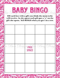 baby shower gift bingo printable hot pink damask baby shower bingo bee busy designs