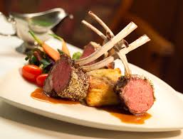Rack Of Lamb On Grill Grilled Lamb Rack With Garlic Infused Mushrooms Serves 4