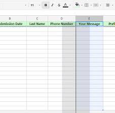 Spreadsheet Integration Spreadsheet Integration How To Change Fields Order Jotform
