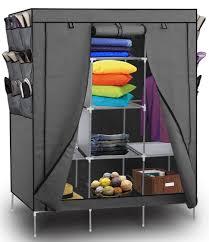 amazon com portable storage organizer wardrobe closet shoe rack
