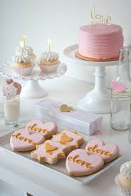 pink and gold cake table decor pink gold valentine s day party ideas twinkle twinkle little party