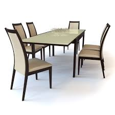 3d model chair cortina and table new smart dining set olivo and