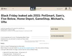 black friday leak home depot home depot petsmart gamestop black friday leaked ads 2015