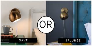 Plug In Wall Lighting Splurge Or Save Brass Plug In Wall Sconces The Havenly Blog