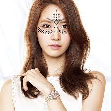 henna makeup 2pcs lot henna eye sticker fashion