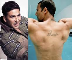 son name tattoo on akshay kumar back golfian com