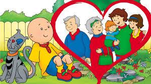 animated funny cartoon cartoon caillou happy valentines day