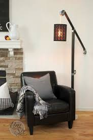 industrial zinc pulley floor lamp pottery barn knockoff the