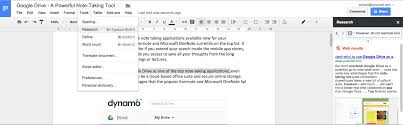 note taking with google drive dynamo6