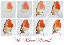 art demo u2013 how to paint a robin in watercolour u2013 alison fennell art