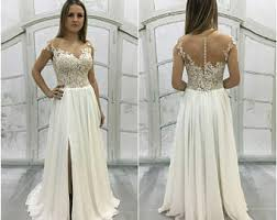 Vintage Inspired Wedding Dresses Beach Wedding Dress Etsy