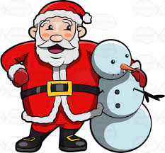 santa and snowman clipart clipground