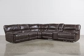 Sectional Sofas That Recline by Marx Nutmeg 6 Piece Power Reclining Sectional Living Spaces