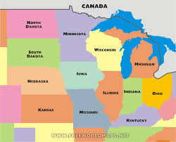 us map middle states free printable maps of the midwest