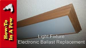 replace fluorescent light fixture in kitchen how to replace the kitchen light ballast youtube