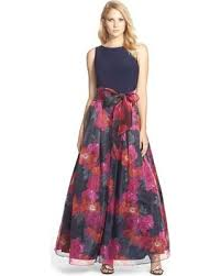 eliza j deals on women s eliza j jersey floral print organza skirt dress