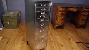 How To Paint A Filing Cabinet Vintage Retro Industrial 10 Drawer Stripped Polished Metal Filing