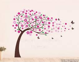 stickers fille chambre bébé fille chambre arbre sticker papillons sticker enfants mur