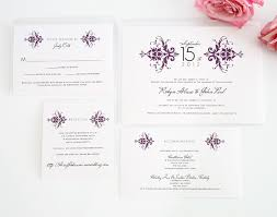 Damask Wedding Invitations Purple Damask Wedding Invitations U2013 Wedding Invitations