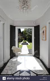 art deco home interior entrance hall with view into garden art deco home brighton uk