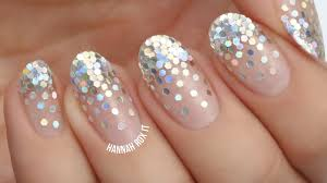falling glitter placement nails for new year u0027s youtube