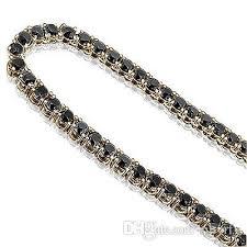 black diamonds necklace images Wholesale 95 black diamond one 1 row mens man design chain jpg