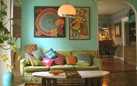 Bohemian Style Room Ideas Bohemian Living Space With A Tapestry - Bohemian style interior design