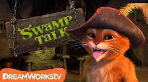 puss boots dead swamp talk shrek donkey