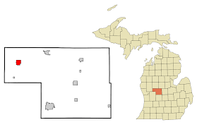 Michigan County Map With Cities by Howard City Michigan Wikipedia
