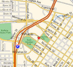 houston map convention center city history