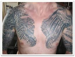 tattoos for on chest to shoulder