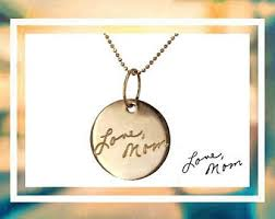 custom handwriting necklace personalized necklace gift for custom handwriting