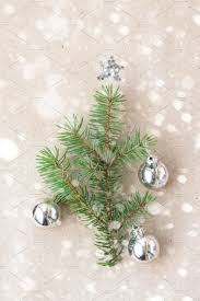 tree made of fir branches and silver decorations with