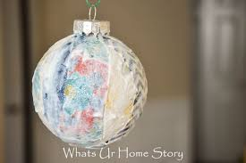 fabric scraps ornament whats ur home story