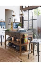 maple wood dark roast glass panel door kitchen island crate and